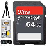 64GB SD Memory Card (High-Speed) + Xtech Starter Kit for FUJIFILM Cameras including Fujifilm X100F, X-T20, X-A10, X-A3, X-T2, X70, X-E2S, X-PRO2, X-T10, X-A2, XQ2, X-T1 IR, (64GB Memory Card)