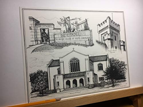 Citadel - hand-drawn pen and ink print by Campus Scenes (Image #2)