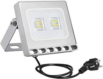 10w Foco Proyector LED Ultra Plano para exterior, Floodlight con ...