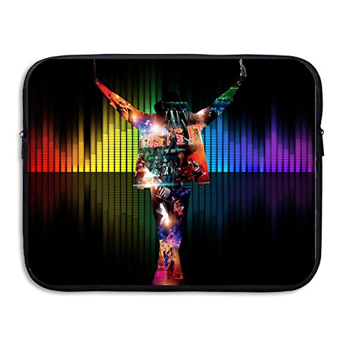 [KathyB King Of Pop Michael Laptop Bag Organizer Briefcase Black] (Michael Jackson Black Or White Costume)