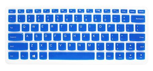"Silicone Keyboard Cover Skin for Lenovo Yoga 710 14"", Yoga 710 15.6"" 15"", Flex 4 14"", ideapad 110 14"", ideapad 310s 14"", ideapad 510s 14"" Laptop (Deep Blue) -  YYubao"