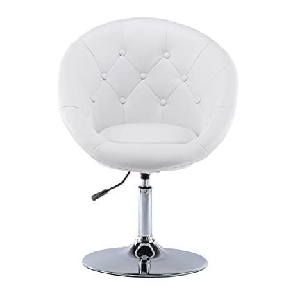 Charmant Chiming Round Back Leather Swivel Height Adjustable Office Chair Living  Room Sofa Dining Bar Stools By