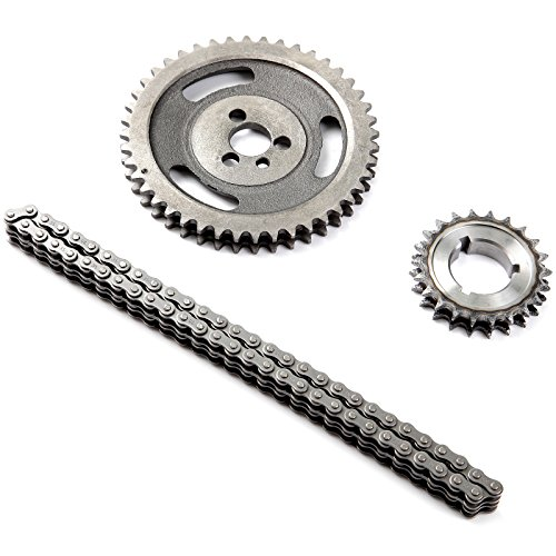 CCIYU HD Double Roller Timing Chain Set Fits Chevy 350 400 327 305 283 383 262 265 SBC