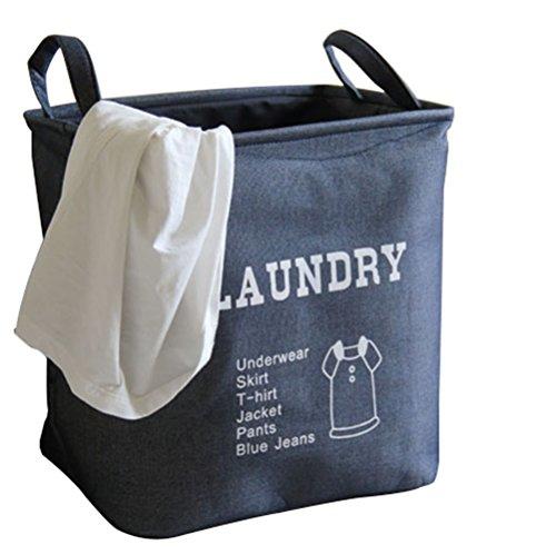 Creation Core Stylish Medium-sized EVA Padded Thickened Laundry Basket Storage Hamper(Navy)