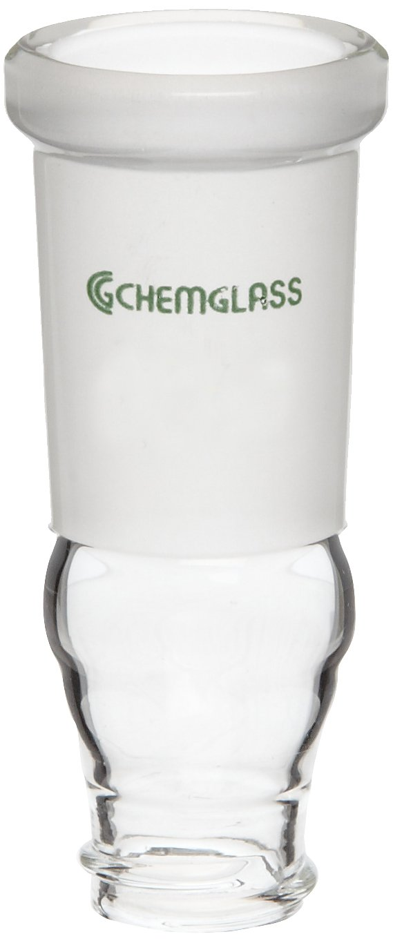 Chemglass CG-1318-10 Glass Rotary Evaporator Vial Adapter, 24/40 Joint