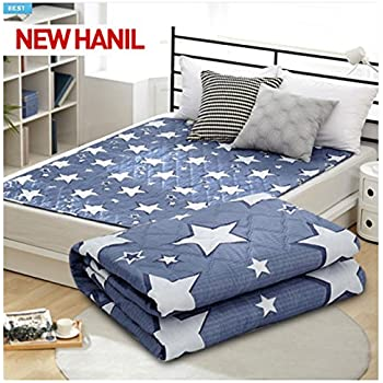 NEW HanIl Electric Heated Mat Warm Sheet Washable Heating Pad 220V (Double,  Little Star_Gray