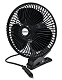 Max Burton 12 Volt 8-Inch Oscillating 2-Speed Fan