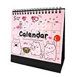 Desk Calendar 2018 2019 Academic Planner Daily Weekly Monthly Yearly Organizer and Goal Journal, Designed To Set Goals and Get Things Done (Cat)