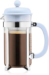 Bodum Caffettiera French Press Coffee and Tea Maker, 34 Oz, Light Blue