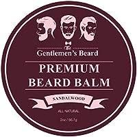 The Gentlemen's Premium Sandalwood Beard Balm - Leave-in Conditioner & Softener - All Natural - Styles, Strengthens…