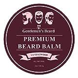 #8: The Gentlemen's Premium Sandalwood Beard Balm - 2 Oz - Tame Your Beard With No Greasiness - Make It Look Thicker and Fuller (Sandalwood)