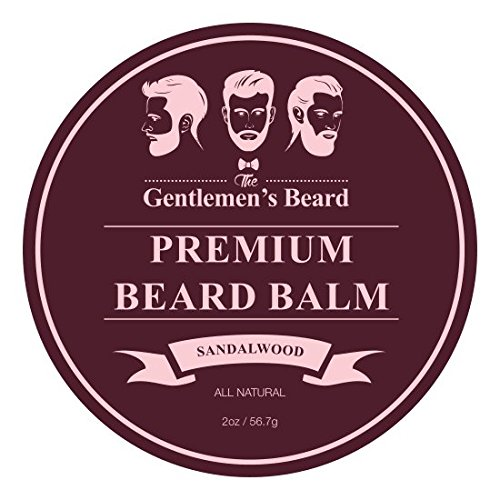 The Gentlemen's Premium Sandalwood Beard Balm - 2 Oz - Tame Your Beard With No Greasiness - Make It Look Thicker and Fuller (Sandalwood)