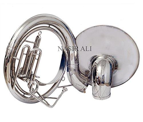 Nasir Ali Sousaphone Bb Big Bell 25'' Nickel by NASIR ALI