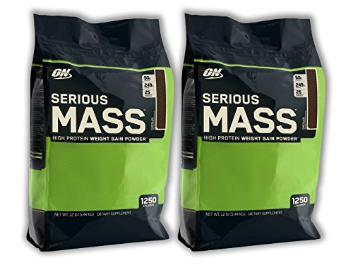 Optimum Nutrition Serious Mass - Chocolate - 12lb (2 Pack)