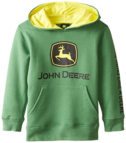 - John Deere Tractor Little Boys' Pullover Fleece Hoody Sweatshirt, Green, 5