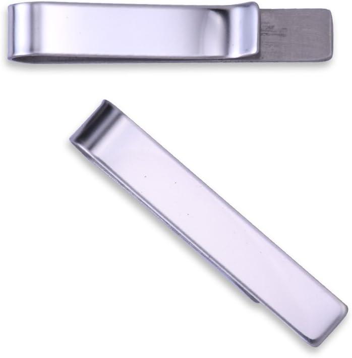 5pcs 8* 48mm acero para hombre personalizada de corbata Tie Bar, día del padre regalo, pulido