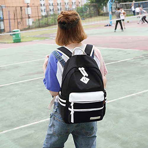 Unisex Activities Black Outdoor Printed Backpack Camouflage and Student Nylon Bag for Flyingsky 35L Rucksack Ovwq0xEP