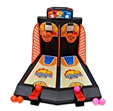 DALAZ Kids Ejection Toys Mini Plastic Basketball Shooting Games Catapult Shoot Basketball Intelligence Table Board Pinball Game For Kids
