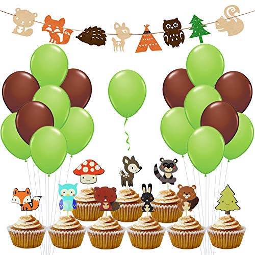 Woodland Party Supplies Woodland Creatures for Baby Shower Decorations by LUCK COLLECTION