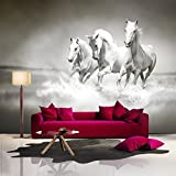 Horse Wall Mural Black and White Photo Wallpaper Living Room Bedroom Home Decor available in 8 Sizes Small Digital