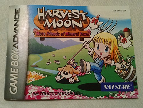 Harvest Moon - More Friends of Mineral Town GBA Instruction Booklet (Game Boy Advance Manual Only)