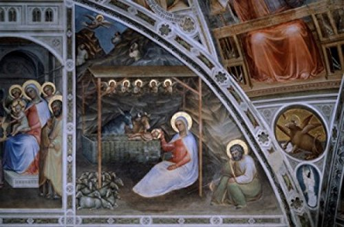 Jesuss Birth from Stories of Christ Giusto di Giovanni de Menabuoi (d ca1393 Italian) Baptistery of the Cathedral Padua Poster Print (18 x 24) (Jesuss Birth)