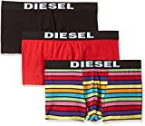Diesel Men's 3-Pack Shawn Stretch Boxer Trunk, Rainbow, S