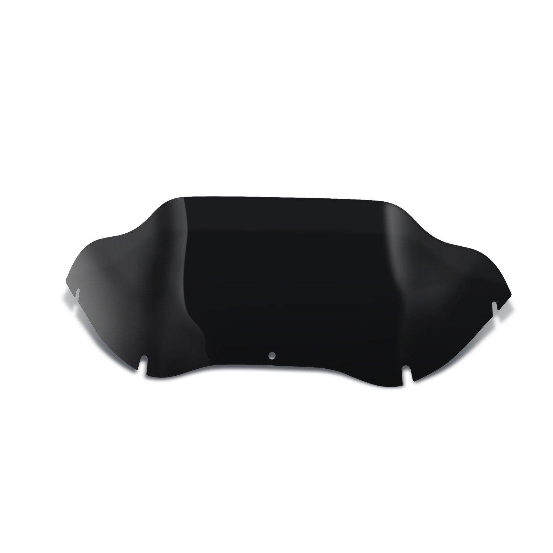 Senkauto Black 9'' Wave Fairing Windshield Windscreen for 1998-2013 Harley Road Glide FLTR FLTRX