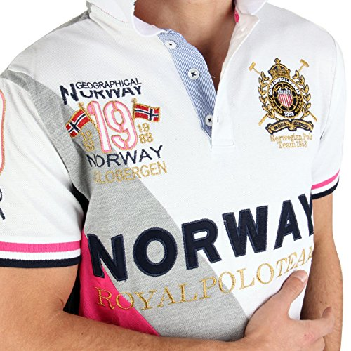 GEOGRAPHICAL NORWAY Herren Polo Shirt Korway White Größe S