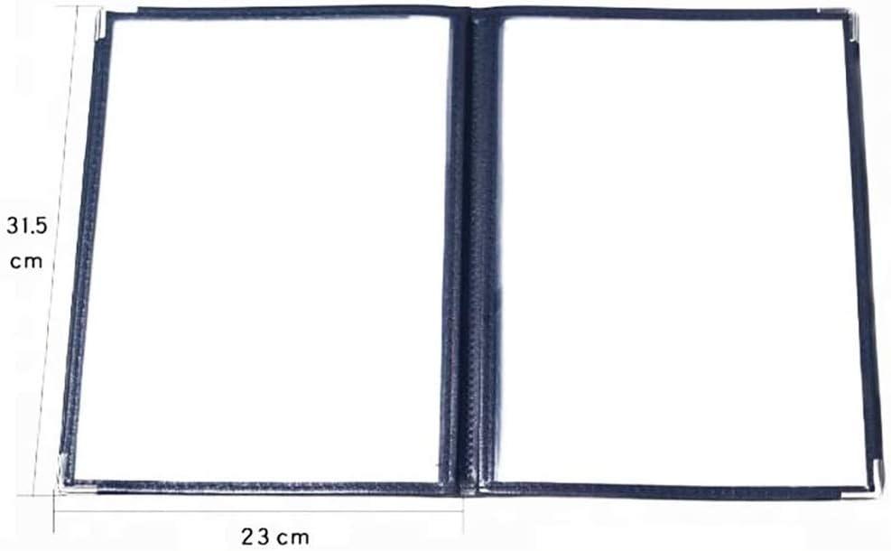 SH-wj File Cabinets Transparent Loose-Leaf Price List Insert Menu with Order Book Price List Making,Page Flip Folder 31.5 23CM Color : D