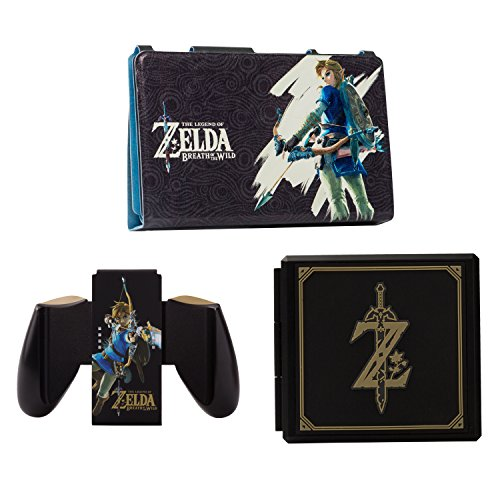 PowerA Hybrid Cover with Legend of Zelda Joy-Con Comfort Grip & Premium Card Cases Kit - Nintendo Switch by PowerA