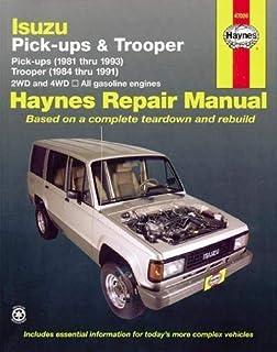 [ANLQ_8698]  Isuzu Trooper '84'91 & Pickup '81'93 (Haynes Repair Manuals) 1st edition by  Haynes, John (1990) Paperback: Amazon.com: Books | 1991 Trooper Fuse Box Location |  | Amazon.com