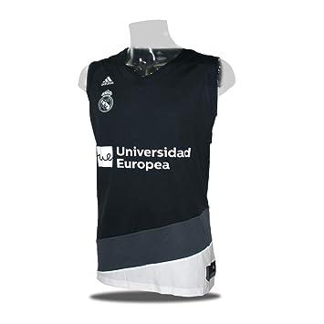 adidas Camiseta Baloncesto Real Madrid 18/19 Negra (XXL): Amazon.es: Deportes y aire libre