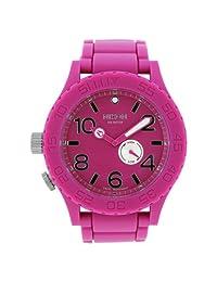 NIXON Women's A236-644 Rubber Analog Pink Dial Watch