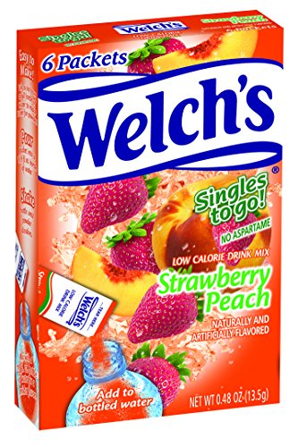 (Welch's Singles To Go Water Drink Mix - Strawberry Peach Powder Sticks (12 Boxes with 6 Packets Each - 72 Total Servings))