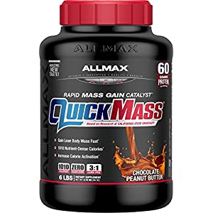 ALLMAX Nutrition QuickMass Loaded Mass Gainer, Peanut Butter Chocolate, 6 lbs
