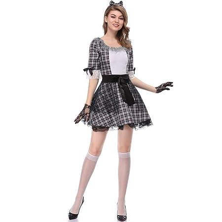 TIANFUSW Disfraz de Novia Fantasma de Halloween para Mujer, Sexy ...