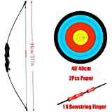 PG1ARCHERY Takedown Archery Scout Bow Set, Brave Bow Toy Bow with Arrow Target & Bowstring Finger for Kids & Youth Black