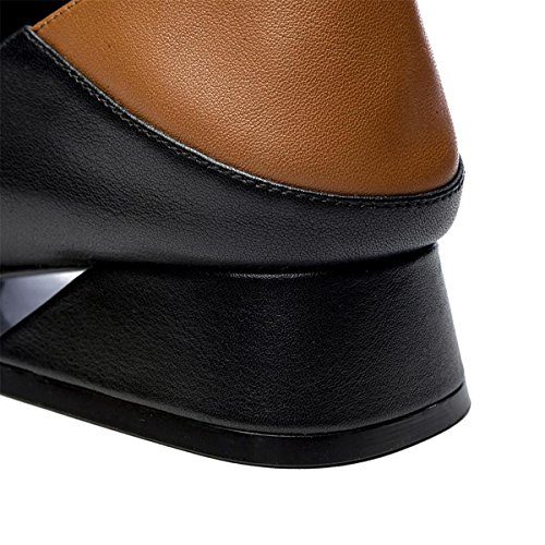 Dérapant Heel Femmes à Nouveautés Round Mid Fall Winter EUR40UK7 la Chaussures Work NVXIE Half Retro Dames Mode Chaussures Rough antidérapant Head Anti Party Slippers Lazy 6wUIqd