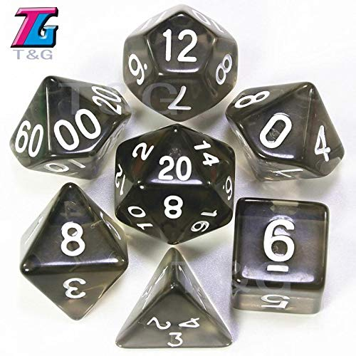 Amazon.com : CocoBeen T&G Dice 7pc/lot Red Transparent Dice ...