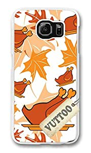 Samsung S6 Case,VUTTOO Cover With Photo: Turkey Dinner For Samsung Galaxy S6 - PC Transparent