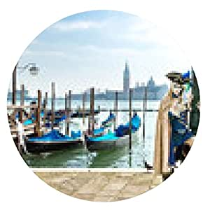 alfombrilla de ratón Carnaval de Venecia - ronda - 20cm