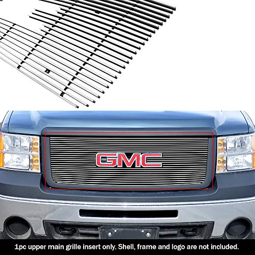 - APS G66474A Polished Aluminum Billet Grille Bolt Over for select GMC Sierra 1500 Models