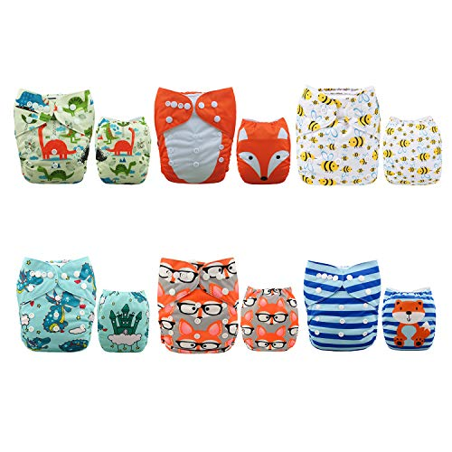 Used, ALVABABY CALVABABY Cloth Diapers Adjustable Washable for sale  Delivered anywhere in Canada