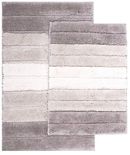 naturally home Eclipse 2-Piece Ombre Striped Bathroom Rug Se
