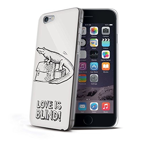 Celly BLINDIPH6PCRO Love is Blind Kroco Plastik Schutzhülle für Apple iPhone 6 Plus
