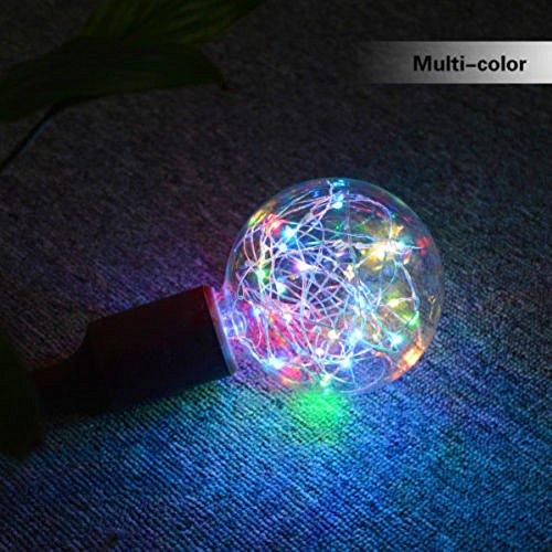 Wffo Christmas LED Light Bulb, E27 Starry Fairy String for Xmas Party Lamp Bulb Home Decor (Multicolor)
