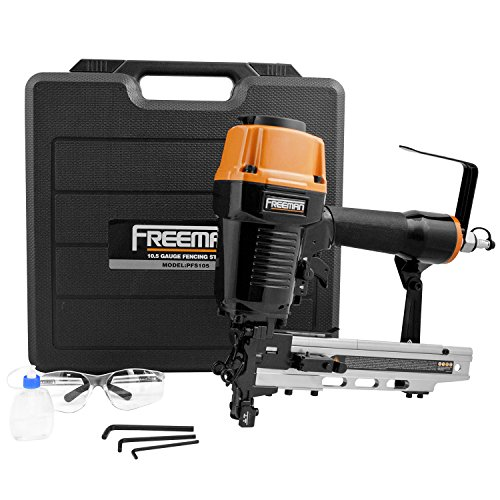 [해외]Freeman Pneumatics PFS105 공압 10.5 게이지 펜싱 스테이플러 (케이스 포함)/Freeman Pneumatics PFS105 Pneumatic 10.5 Gauge Fencing Stapler wi