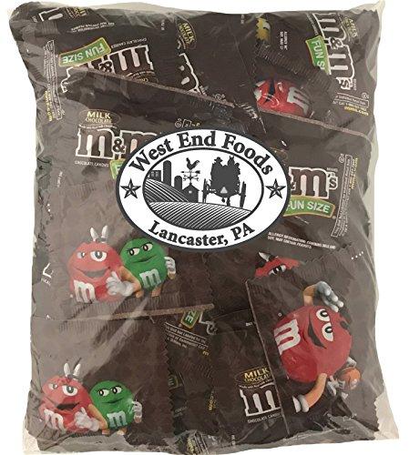 Chocolate Coins Wedding Favors - M&Ms Fun Size Milk Chocolate Bulk (3 Pound Bag)
