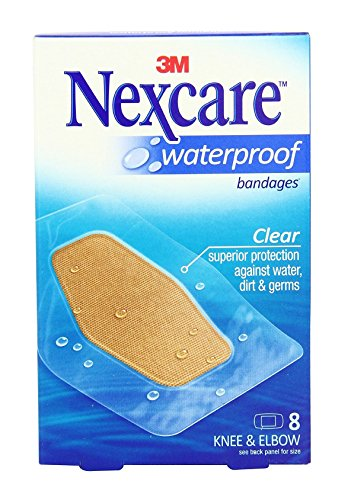 (Nexcare Waterproof Clear Bandage, Knee and Elbow, 8 Bandages Per Box (5 Pack))